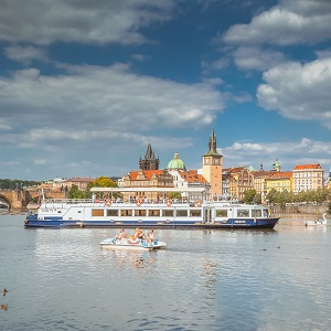 Experience a distinct view of Prague's sites during an Hour-long cruise from the Rašínovo riverbank