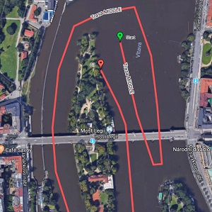 On 26 and 27 July there will be a change in the routes for cruises departing from the Rašín Embankment