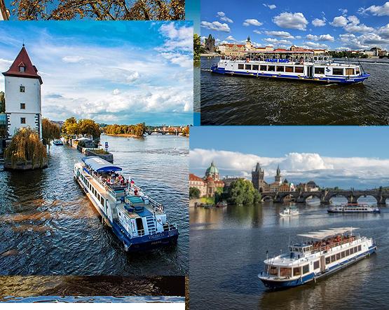 Grosse Schiffsfahrt durch Prag